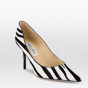 NEW Jimmy Choo Calf Hair Zebra shoes